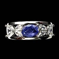 """Нежное кольцо с натуральными танзанитами  """"Зимнее"""" размер 18,3 от студии LadyStyle.Biz, фото 1"""