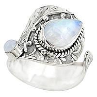 """Элегантное  кольцо с   и лунным камнем """"Питон"""" ,   от студии LadyStyle.Biz, фото 1"""