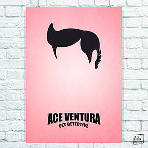 Постер Эйс Вентура / Ace Ventura (1994). Размер 60x42см (A2). Глянцевая бумага