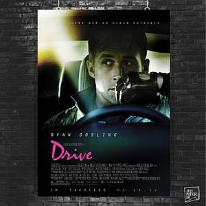Постер Drive (2011), Райан Гослинг, Драйв. Размер 60x42см (A2). Глянцевая бумага