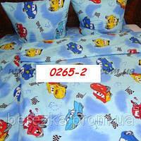 Постельное в детскую кроватку Тачки салатовый 0265-2 М