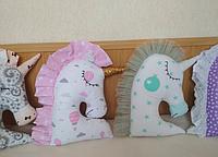 Игрушка Сплюшка - Единорожка. Подарок ребенку от рождения.