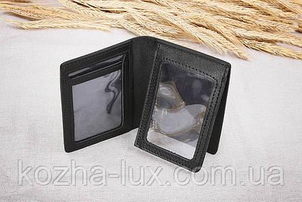 Тонкая обложка для водительских документов, натуральная кожа, фото 2