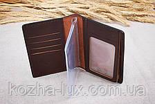 Обложка на документы кожаная стандартная, натуральная кожа, фото 3
