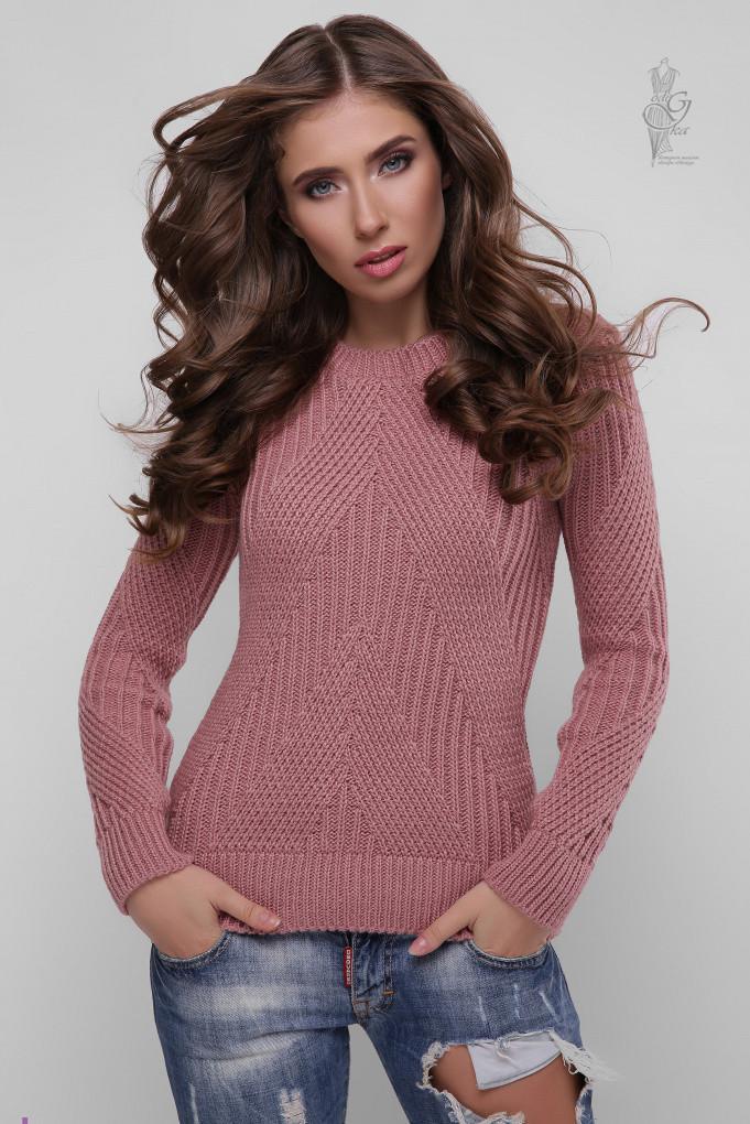 Вязаный женский свитер Велия из шерсти и акрила