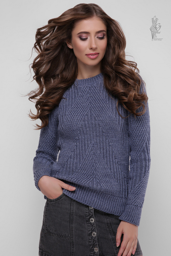 Вязаный женский свитер Велия-5 из шерсти и акрила