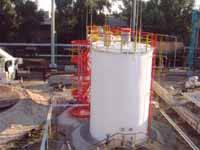 Постачання та монтаж резервуарного обладнання, алюмінієвих понтонів Ultraflote Corp. (США)  резервуарів РВС-10