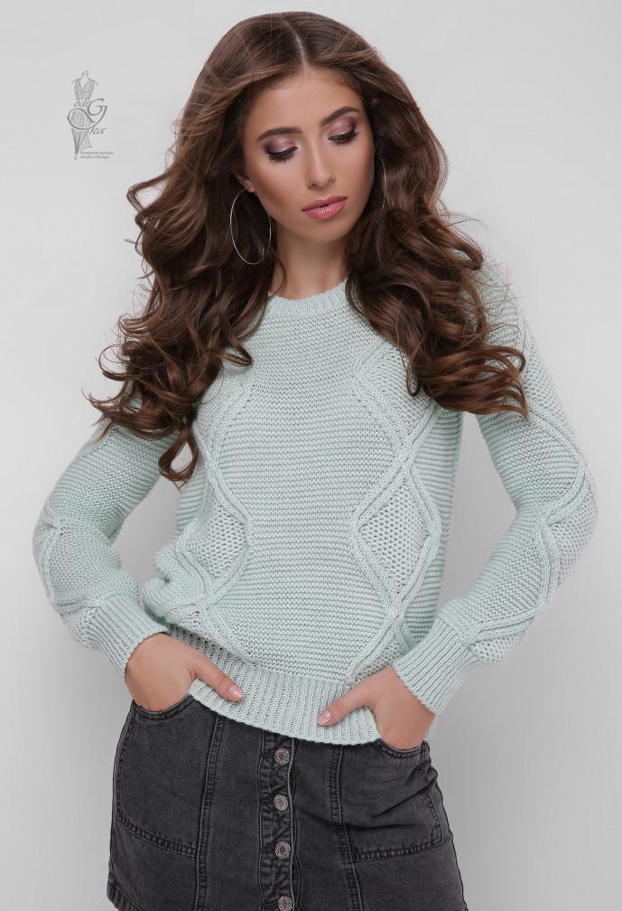 Вязаный женский свитер Памела-1 из шерсти и акрила