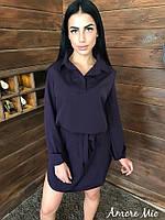 Модное свободное платье рубашка