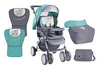 Детская коляска COMBI GREEN GREY FRENDS +MAMA BAG