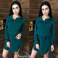 Женское свободное платье рубашка