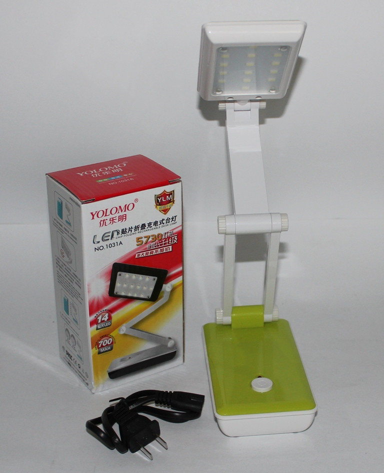 LED настольная лампа с резервным питанием