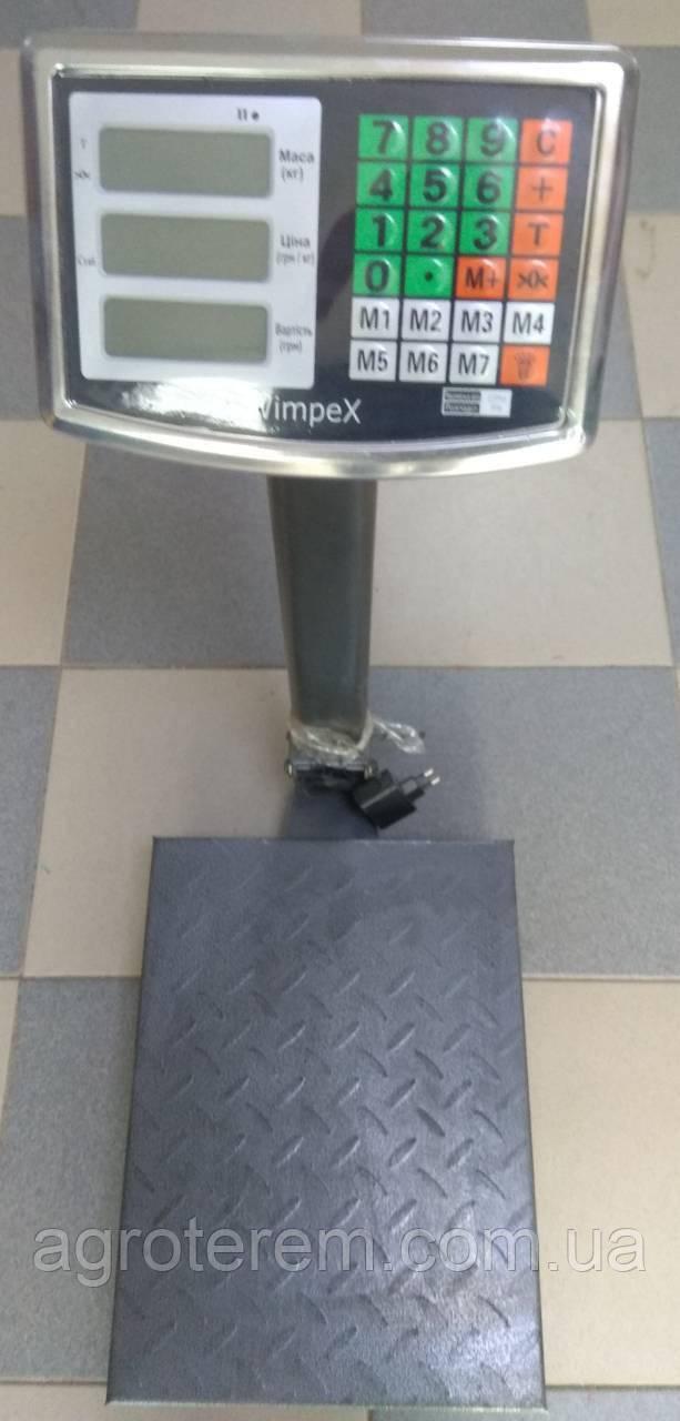 Ваги електронні 120 кг Wimpex (залізна нога і площ)