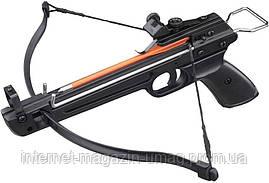 Арбалет Man Kung MK-50A2 пистолетного типа, алюмиевая рукоять, черный