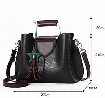 Элегантная женская сумка с мраморным оттенком, фото 3