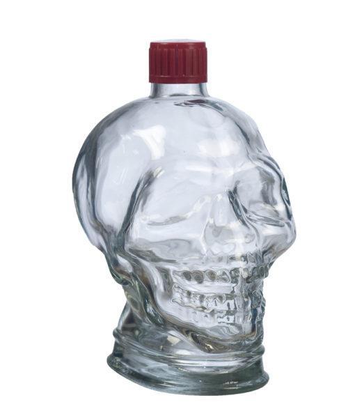 Бутылка 1л «Череп» с пластмассовой пробкой