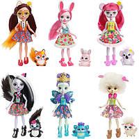 Кукла Enchantimals  Mattel c питомцем в асортименте. Оригинал.