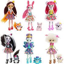 Лялька Enchantimals Mattel c вихованцем в асортименті. Оригінал.