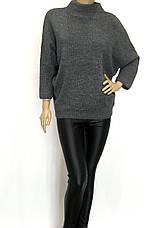Жіночий светр гольф оверсайз з люрексом, фото 2