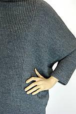 Жіночий светр гольф оверсайз з люрексом, фото 3