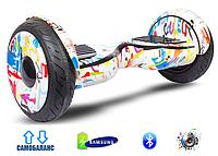 """Гироскутер Smart Balance AllRoad 10,5"""" SUV Premium Original Граффити Белый"""