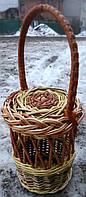 Корзинка под банку плетеная, фото 1