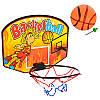 Баскетбольное кольцо M 2987, щит-картон 28-21см, кольцо-пласт 17см, сетка, мяч