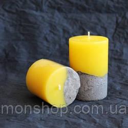 Свічка - бетон 6х10 см (аромат і колір на вибір)