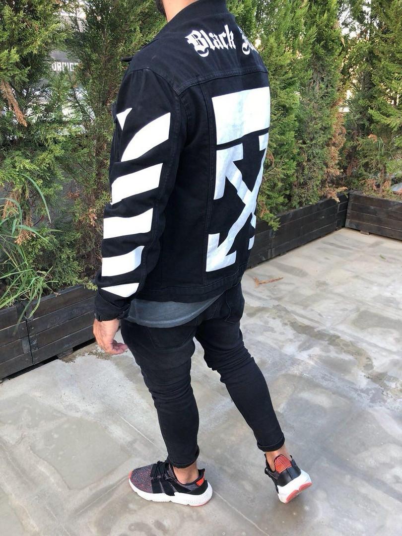 Джинсовый мужской пиджак черный