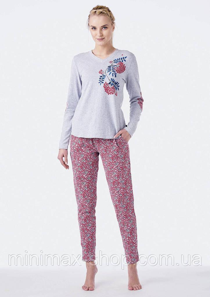 Пижама женская хлопковая LNS 568 KEY Польша 2018