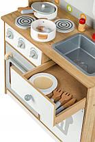 Деревянная кухня для детей EcoToys White, фото 2