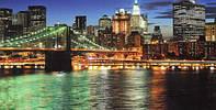 Фотообои, ночной город, мост, мегаполис,  ПРЕСТИЖ №13 392смХ204см