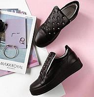 Туфли женские кожаные с украшением Art Eclips, фото 1