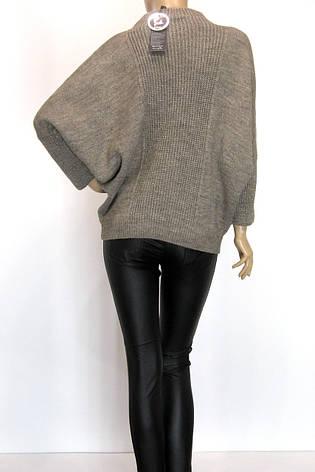 Свитер оверсайз бежевый с люрексом пуловер, фото 2