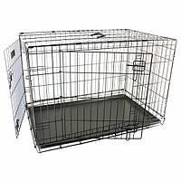 Flamingo Wire Cage Ebo Taupe ФЛАМИНГО ВАЙР КЭЙДЖ 2-х дверная клетка для собак