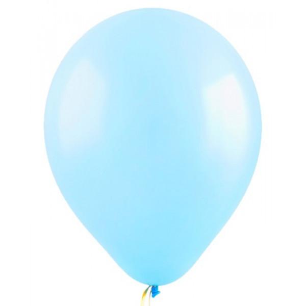 Воздушные шарики пастель  100 шт . 30 см  светло-голубой  00930