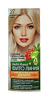 Стойкая крем-краска для волос Фито линия № 27 Перламутровый блонд