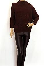 Модный женский свитер с люрексом большого размера, фото 2
