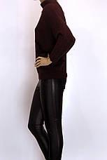 Модный женский свитер с люрексом большого размера, фото 3