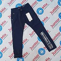 Подростковые котоновые брюки на флисе  для мальчиков  оптом SEAGUL  синего цвета