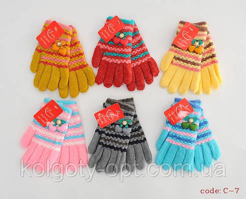 Перчатки букле для девочек (продаются только от 12 пар)