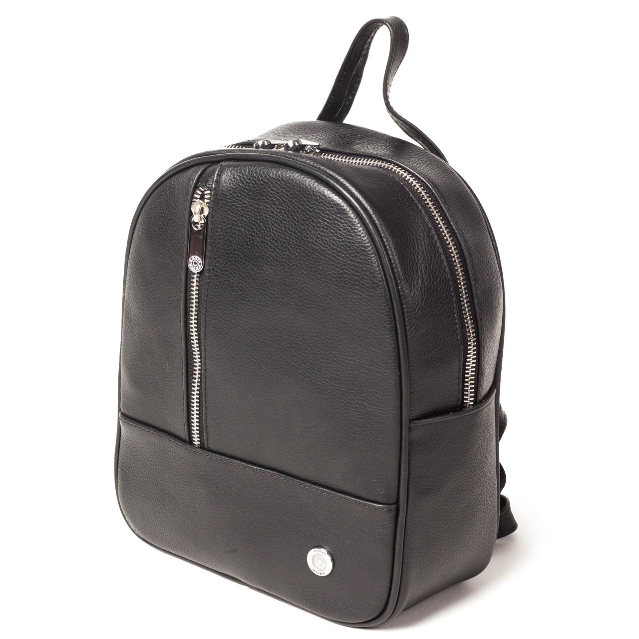 Жіночий рюкзак міський Karya 0799-45 з натуральної шкіри чорний