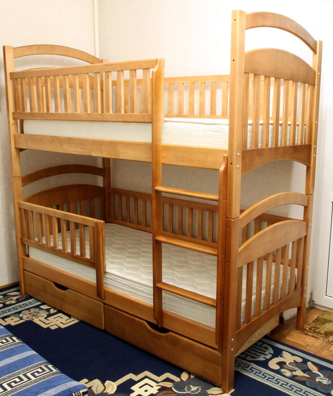 Кровать двухъярусная Карина-Люкс Высший сорт, без сучков