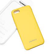 Cиликоновый чехол на Huawei Y5 2018 / Y5 Prime 2018 Soft-touch Yellow