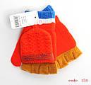 Перчатки-варежки вязанные с обрезанными пальцами (продаются только от 12 пар), фото 4