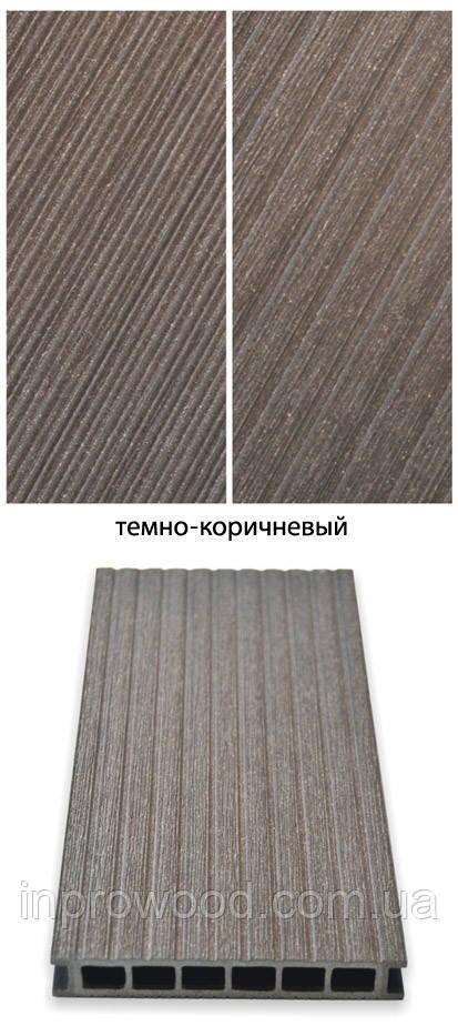 Терасна дошка ДПК Gamrat Польща 25х160х3000 темно-коричневий