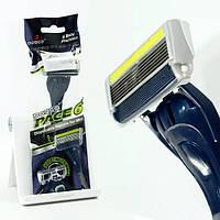 Мужской одноразовый станок для бритья Dorco Pace 6 Plus + тример (3033)