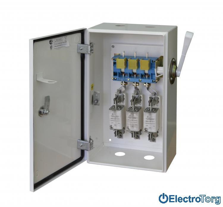 Ящик с рубильником и предохранителями ЯРП-100 Стандарт с ВР IP31 400*300*150 Украина (Ukraine)
