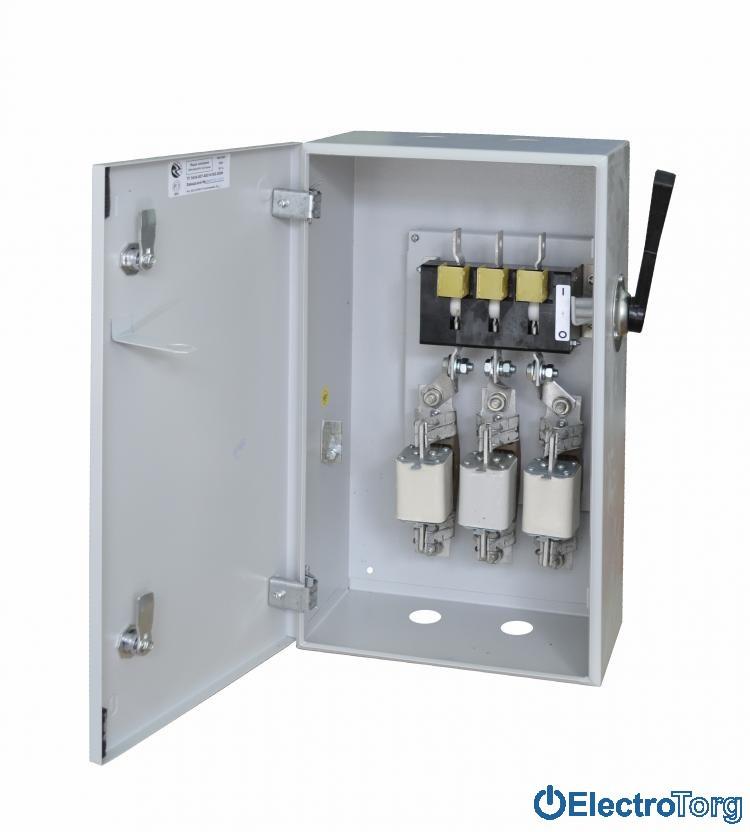 Ящик с рубильником и предохранителями ЯРП-250 Эконом без МП, с ВР IP31 550*280*190 Украина (Ukraine)