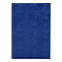 Ежедневник недат Агенда Wave синий, фото 1